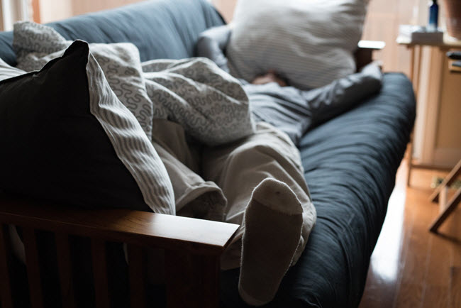 sleeping on couch
