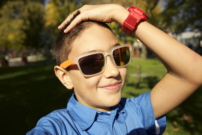 child with watch